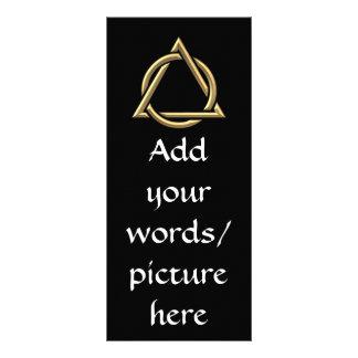 "Golden ""3-D"" Holy Trinity Symbol Rack Card"