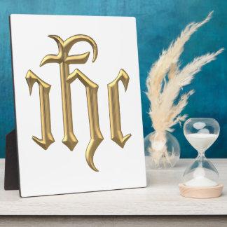 """Golden """"3-D"""" IHC Plaque"""
