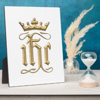 """Golden """"3-D"""" IHC with Crown Plaque"""