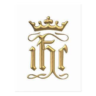 "Golden ""3-D"" IHC with Crown Postcard"