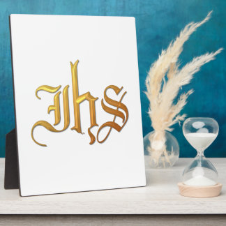 """Golden """"3-D"""" IHS Plaque"""