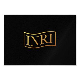 """Golden """"3-D"""" INRI Card"""