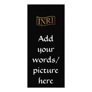 """Golden """"3-D"""" INRI Rack Card"""