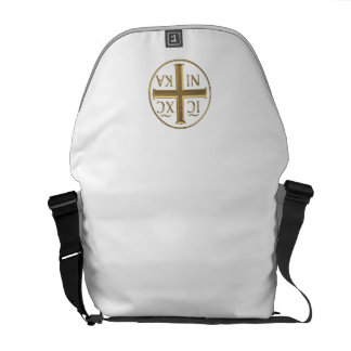 "Golden ""3-D"" Jesus Christ: Conquers Messenger Bag"