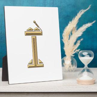 """Golden """"3-D"""" Lectern Plaque"""