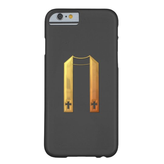 """Golden """"3-D"""" Liturgical Stole Barely There iPhone 6 Case"""