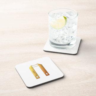 """Golden """"3-D"""" Liturgical Stole Beverage Coaster"""