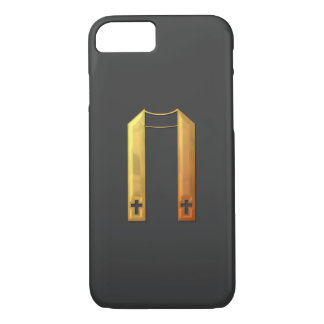 "Golden ""3-D"" Liturgical Stole iPhone 7 Case"