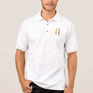 """Golden """"3-D"""" Liturgical Stole Polo Shirt"""