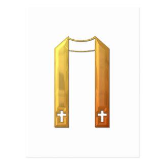 """Golden """"3-D"""" Liturgical Stole Postcard"""