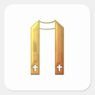 """Golden """"3-D"""" Liturgical Stole Stickers"""