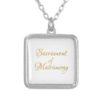 Golden 3-D Look Sacrament of Matrimony Silver Plated Necklace