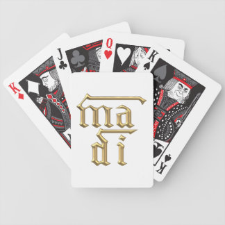 """Golden """"3-D"""" Mother of God (Ma Di) Symbol Bicycle Playing Cards"""