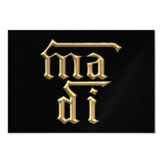 """Golden """"3-D"""" Mother of God (Ma Di) Symbol Card"""