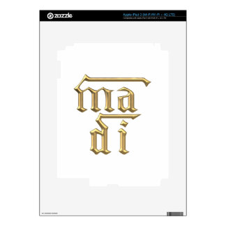 "Golden ""3-D"" Mother of God (Ma Di) Symbol iPad 3 Skins"