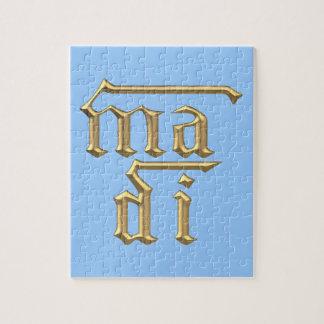 "Golden ""3-D"" Mother of God (Ma Di) Symbol Jigsaw Puzzle"