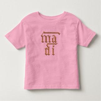"""Golden """"3-D"""" Mother of God (Ma Di) Symbol Toddler T-shirt"""