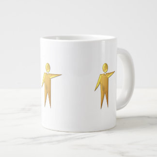 "Golden ""3-D"" Priest/Minister 2 Giant Coffee Mug"