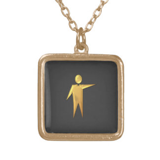 """Golden """"3-D"""" Priest/Minister 2 Gold Plated Necklace"""