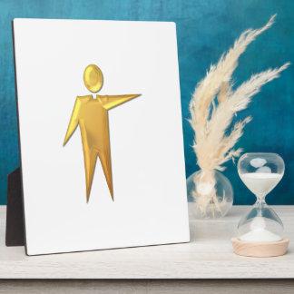 """Golden """"3-D"""" Priest/Minister 2 Plaque"""