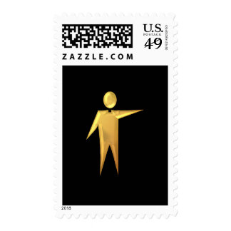 "Golden ""3-D"" Priest/Minister 2 Postage"