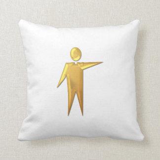 """Golden """"3-D"""" Priest/Minister 2 Throw Pillow"""