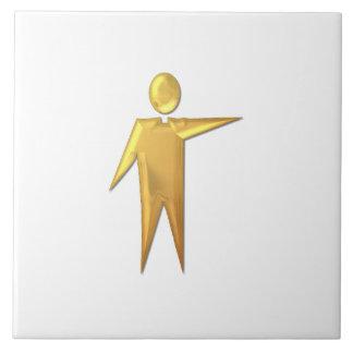 "Golden ""3-D"" Priest/Minister 2 Tile"