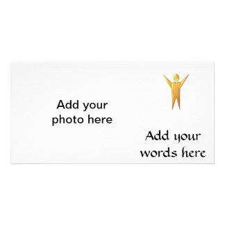 """Golden """"3-D"""" Priest/Minister Card"""