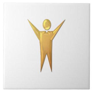 """Golden """"3-D"""" Priest/Minister Ceramic Tile"""