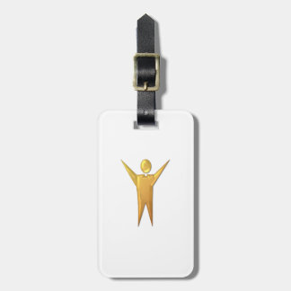 """Golden """"3-D"""" Priest/Minister Luggage Tag"""