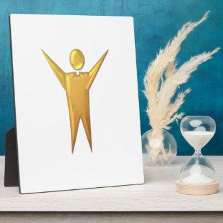 """Golden """"3-D"""" Priest/Minister Plaque"""