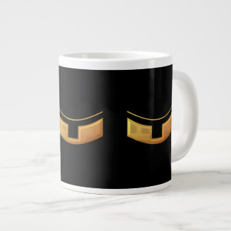"Golden ""3-D"" Priest/Minster Collar Large Coffee Mug"