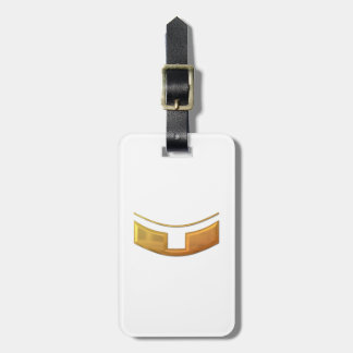 "Golden ""3-D"" Priest/Minster Collar Luggage Tag"