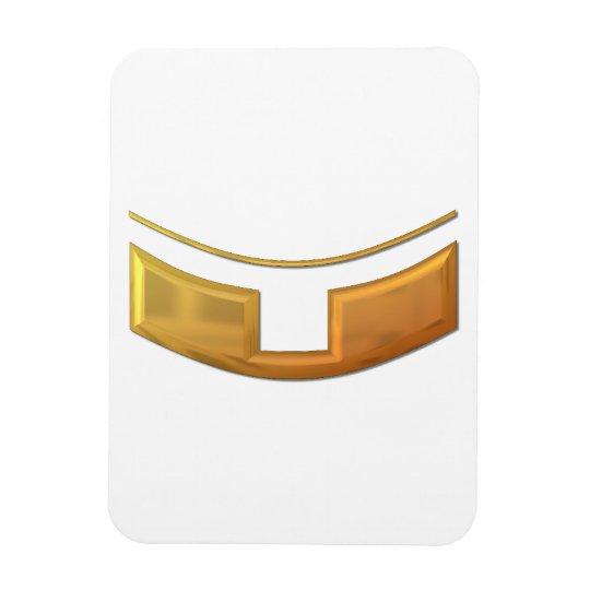 """Golden """"3-D"""" Priest/Minster Collar Magnet"""