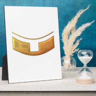 "Golden ""3-D"" Priest/Minster Collar Plaque"