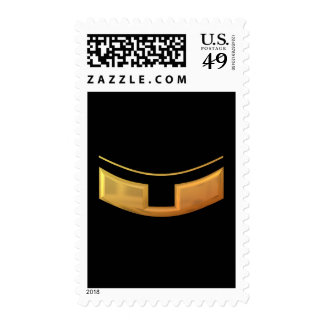 "Golden ""3-D"" Priest/Minster Collar Postage"