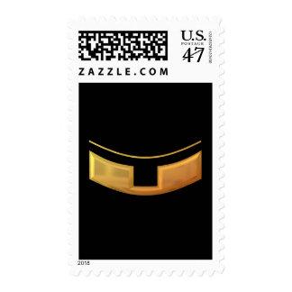 "Golden ""3-D"" Priest/Minster Collar Postage Stamp"