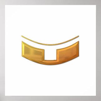 """Golden """"3-D"""" Priest/Minster Collar Poster"""