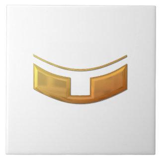 "Golden ""3-D"" Priest/Minster Collar Tile"