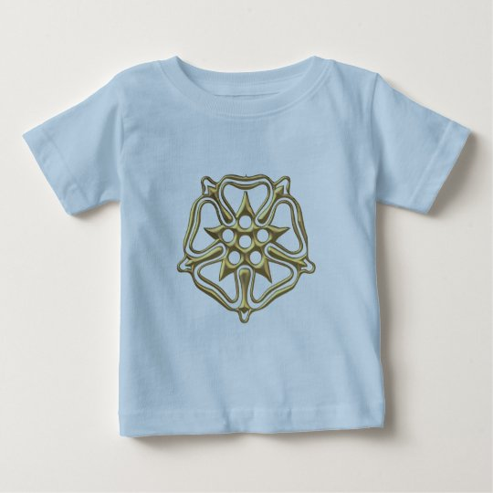 "Golden ""3-D"" Rose Symbol Baby T-Shirt"