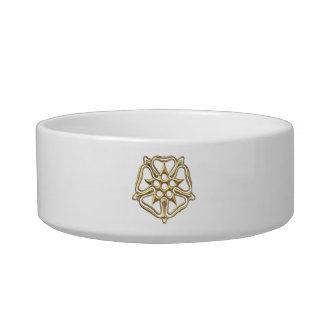 """Golden """"3-D"""" Rose Symbol Bowl"""
