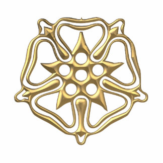 "Golden ""3-D"" Rose Symbol Acrylic Cut Out"