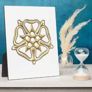 "Golden ""3-D"" Rose Symbol Plaque"