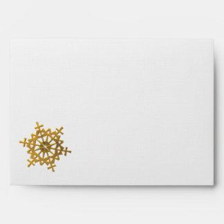 "Golden ""3-D"" Snowflake Envelopes"