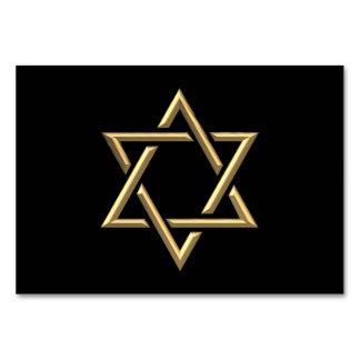 Golden 3-D Star of David Card