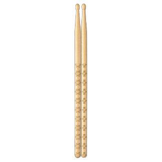 Golden 3-D Star of David Drumsticks