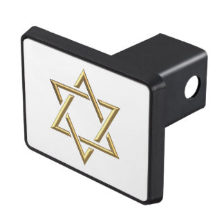 Golden 3-D Star of David Hitch Cover