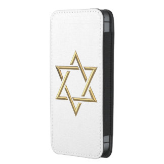Golden 3-D Star of David iPhone SE/5/5s/5c Pouch