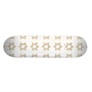 Golden 3-D Star of David Skateboard Deck