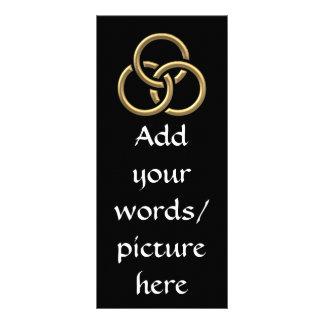 "Golden ""3-D"" Trinity Rings Rack Card"